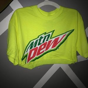 Mountain Dew Crop Top